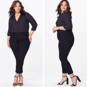 NYDJ Sheri Slim Black Plus Size Skinny Jeans